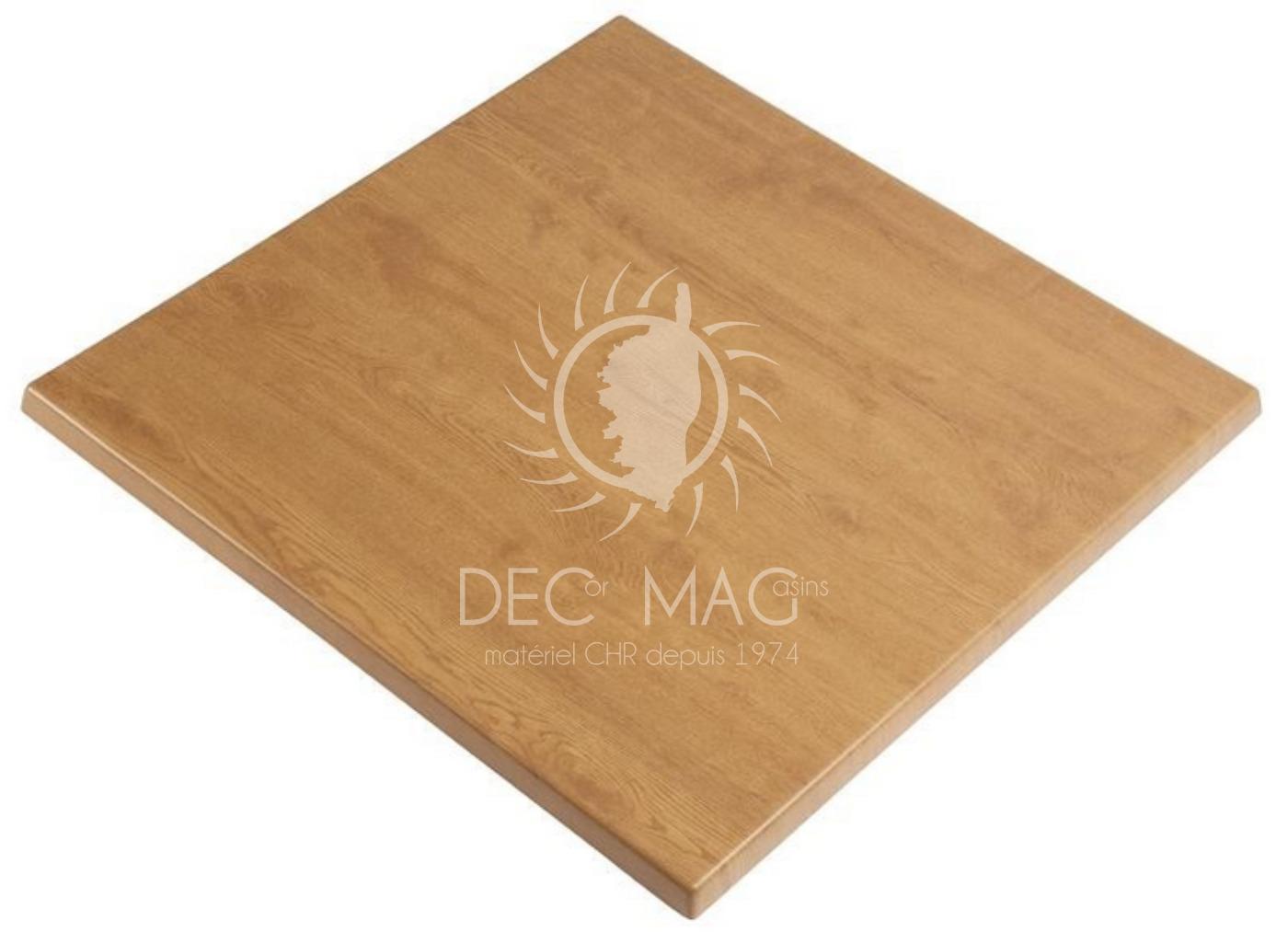 Decor magasin vente plateau de table ch ne 60x60 for Table exterieur 60x60