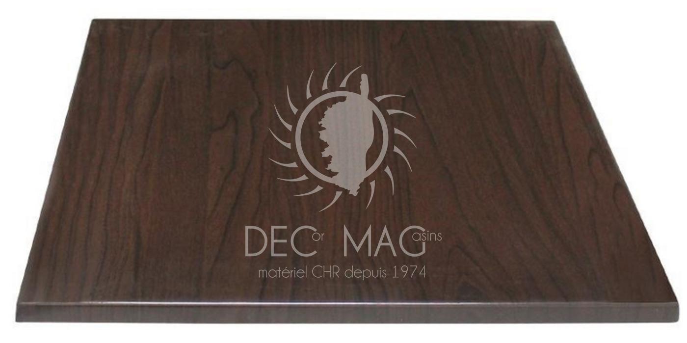 decor magasin vente plateau de table marron fonc 60x60. Black Bedroom Furniture Sets. Home Design Ideas